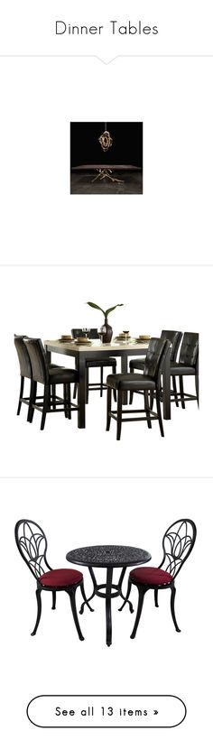 """""""Dinner Tables"""" by sentioinfinitum ❤ liked on Polyvore featuring home, furniture, tables, dining tables, traditional dining tables, traditional furniture, faux marble top table, faux marble top dining table, traditional home furniture and outdoors"""