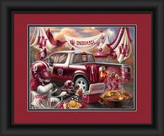 "Indiana Hoosiers Tailgate Print 15""x18"""
