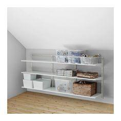 ALGOT Väggskena/hyllor IKEA Delarna i serien ALGOT går att kombinera på många olika sätt och är därför enkla att anpassa efter behov och utrymme.