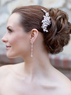 Vintage Inspired Bridal Hair Comb by Hair Comes the Bride  www.HairComestheBride.com