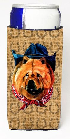 Chow Chow Dog Country Lucky Horseshoe Ultra Beverage Insulators for slim cans SP5241MUK