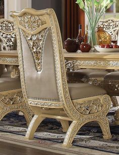 Traditional Dining Room Sets, Side Chairs, Dining Chairs, Armchair, Gold Tips, Single Sofa, Traditional Looks, Luxury Living, Design Model