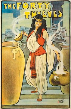 Buyenlarge 'The Forty Thieves' Vintage Advertisement Size: H x W x D Vintage Movies, Vintage Posters, Vintage Art, Spanish Gypsy, Gypsy Girls, Exotic Women, Metal Wall Art, 5 D, Canvas Art