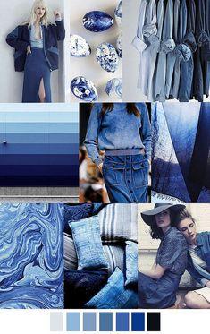 🌊 Trending blues from Pantone in Island Paradise, Niagra & Lapis - shades of the sea are everywhere this season! Fashion Colours, Colorful Fashion, Azul Niagara, Bleu Indigo, Azul Indigo, Blue Colour Palette, Color Palettes, Color Azul, Fashion 2017