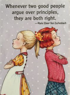 Whenever Two Good People Argue-Mary Engelbreit Magnet