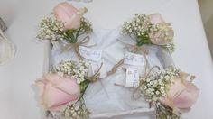 Rose and Gypsophelia buttonholes