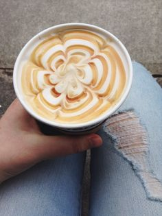 a beautiful cappuccino