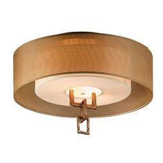 Bronze Leaf Link Two-Light Semi Flush Mount