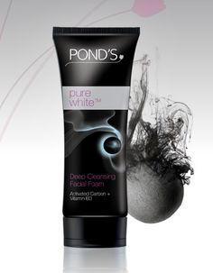 """Cleanse with Pond's Pure White Facial Foam especially after returning from a wedding. It attracts deep seated """"black"""" dirt caused by impurities, oil and make-up to reveal a pure white you."""