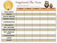 As Tontas Vão Ao Céu: Organização das Moças - Planejamento Mensal para M...
