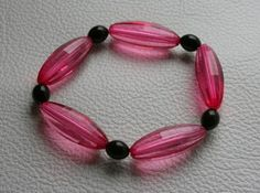 Armband pink - schwarz