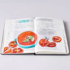 Daily Doodles: Interview with graphic artist Sally Mao - Talk Illustration Moleskine Sketchbook, Travel Sketchbook, Sketchbooks, Watercolor Food, Watercolor Journal, Sketchbook Inspiration, Journal Inspiration, Food Journal, Recipe Journal