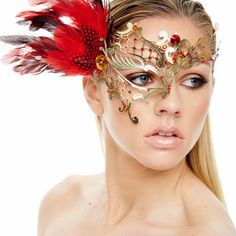Best Red And Gold Masquerade Mask Products on Wanelo