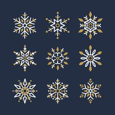 Set of snowflakes christmas design vector Free Vector Snowflake Images, Snowflake Designs, Christmas Mood, Christmas Design, Bullet Journal Banner, Celtic Patterns, New Year Designs, Jingle All The Way, Plant Illustration