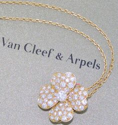 VAN CLEEF & ARPELS 18kYG COSMOS CLIP PENDANT  MEDIUM SIZE  1.97tcw  53 DIAMONDS #VanCleefArpels #ClipPendant