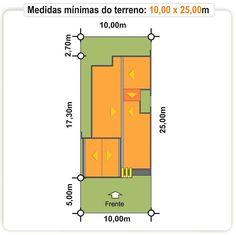 Planta geral do terreno: casa Teresina