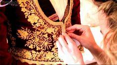 Κατηφένια, η παραδοσιακή νυφική φορεσιά των Μεγάρων / Katifenia, the traditional bridal costume of Megara, Attica, Greece Folk Costume, Costumes, Greek Traditional Dress, Embroidered Jacket, Greeks, Macedonia, Albania, Bulgaria, Folk Art
