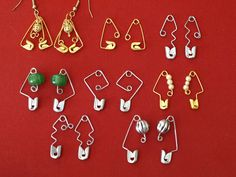 Safety Pin Earrings made from everyday budget objects - artistically twisted and bent to create something special