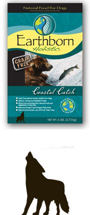 Earthborn Coastal Catch, fiber 4%, fat 18% or more, carbs 29%, 435 cal/cup, 3.25-3.75 cup/day, 1st ingred herring