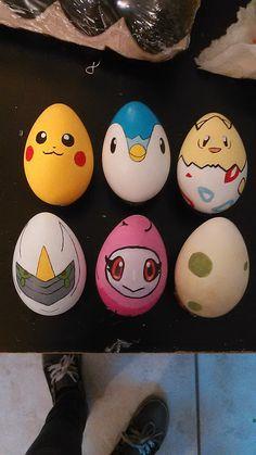 pokemon easter eggs (acrylic paint 2015) graytheartist