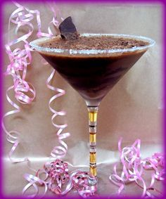 "Mezzanotte from Proud Italian Cook.  Pure decadence! That's how I describe this amazing coffee cocktail called, ""Mezzanotte"".  This is something you'd would want to make for a very special occasion. Dark chocolate, espresso, vodka, and coffee liqueur, make up this little treat! Who wouldn't want to sip one of these? It's like having your espresso and dessert all in one!"