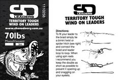 SD Wind-on Leader Heavy Mono (Wind-on)   SD Territory Tough Leaders   Import Tackle - Import Tackle   Online Fishing Tackle Store