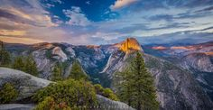 Sunset on Half Dome from Glacier Point Photo by Michael Filippoff — National Geographic Your Shot Yosemite Glacier Point, John Muir, Nature Quotes, National Geographic Photos, Half Dome, Amazing Photography, Beautiful Pictures, Shots, Scenery