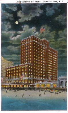 Atlantic City Boardwalk, NJ Ritz Carlton Hotel