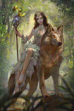 Idea for race that rides animals... She's known as the wolf princess and they're governed by princes and princesses