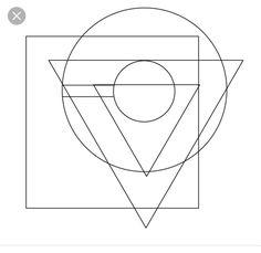 Circle Square Triangle, Magnolia Tattoo, Triangle Tattoos, Art Reference, Symbols, Letters, Bauhaus, Diy, Image