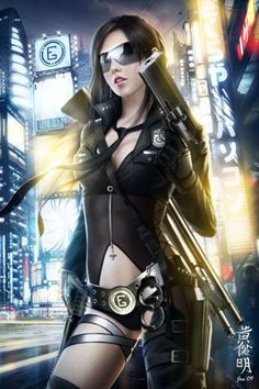 Enforcing the law or bringing justice to the streets requires an unorthodox style. #Cyberpunk #Sindome