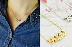 Personalized Zip Code Necklace $16.95 #repping