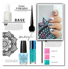 """""""Mandala -manicure-"""" by dolly-valkyrie ❤ liked on Polyvore featuring beauty, Essie, Oscar de la Renta, OPI, Models Own and Christian Louboutin"""