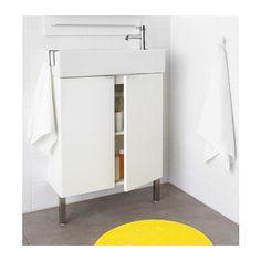 Ensuite - $209 LILLÅNGEN Washbasin cabinet with 2 doors - white, 60x27x93 cm - IKEA, tap extra