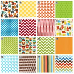 Custom crib bedding Colorful nursery bedding by GiggleSixBaby