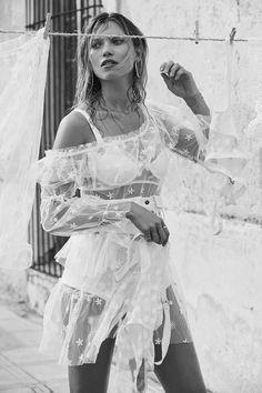 720e6870d Spring 2018 Ready-to-Wear – For Love & Lemons Sheer Beauty, Hana