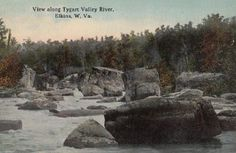 Elkins WV view along Tygart Valley River Randolph County  - presented by Genealogy Trails History Group