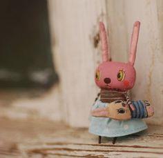 umla:  (via Handmade Bunny rabbit doll / Dollitude   S m a l l F r i e n d s)