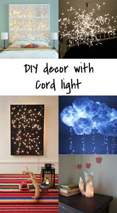 Ohoh Blog - diy and crafts: 5 DIY to try # cord light