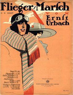 Flieger Marsch, 1912 (ill.: H. R. Erdt); ref. 15714