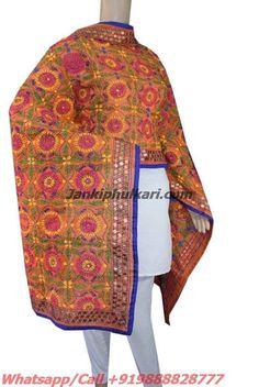 Chanderi Handicraft Dupatta Code-JDC1760