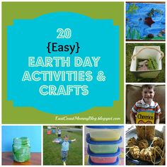 20 {easy and inexpensive} Earth Day Crafts and Activities
