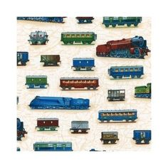 Robert Kaufman Fabric - Trains - Vintage - Cotton train | eBay