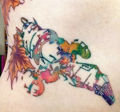 This Amazing Watercolor Firefly Tattoo Is Really Coming Together