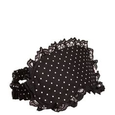 Máscara de dormir rendinha póa preto