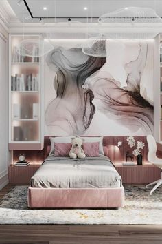 The best inspirations for Kid's Bedrooms | To create a beautiful bedroom for kids, you need an extraordinaire bed. Check Circu for more inspirations: CIRCU.NET Home Room Design, Dream Rooms, House Rooms, Modern Interior Design, Modern Bedroom, Girls Bedroom, Room Decor, Modern Houses, Room Ideas
