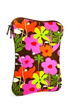 "Built NY  Laptop Sleeve 16"" - French Bull Shadow Flower"