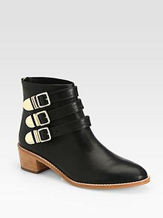 Loeffler+Randall Fenton leather buckle ankle boots. Saw these on AHS and fell in love