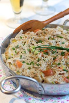 maitake fettuccine in cream sauce...this is wicked good...i use tinkyada brown rice pasta....