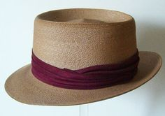Vintage 1950s Cavanagh Rockabilly Straw Mens Hat. $135.00, via Etsy.